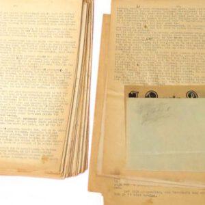 Fragment originele dagboek (foto Wim van Hees)
