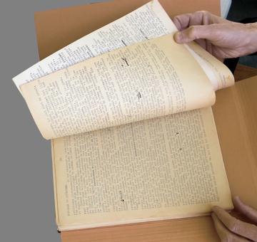 Fragment dagboek (foto Wim van Hees)