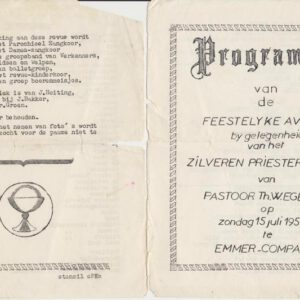 Feestprogramma (foto archief Theo Egberts)